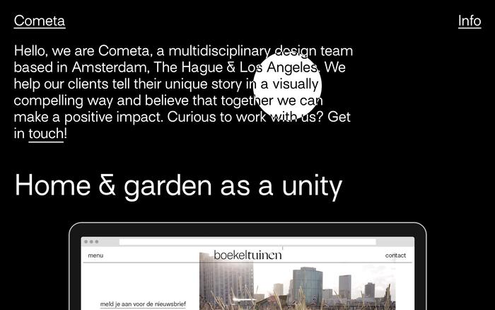 Cometa website 1