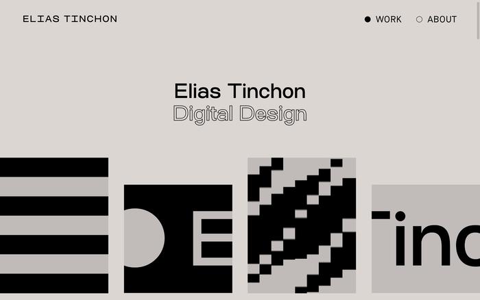 Elias Tinchon portfolio website 1