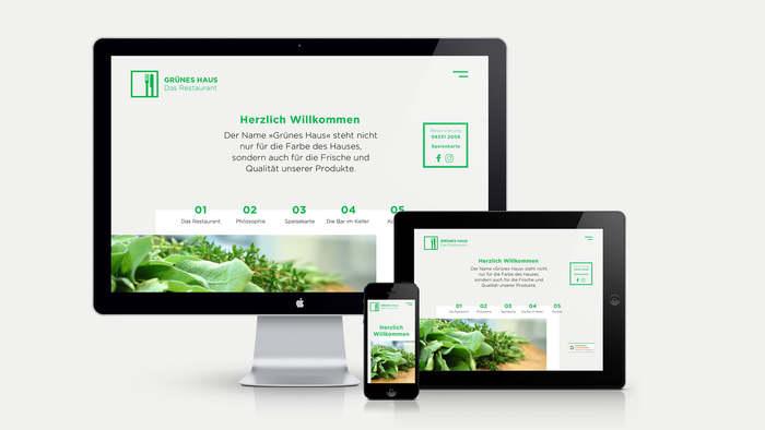 Grünes Haus – Das Restaurant website 1