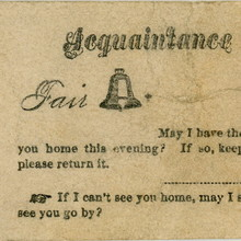 """Fair Belle"" acquaintance card"