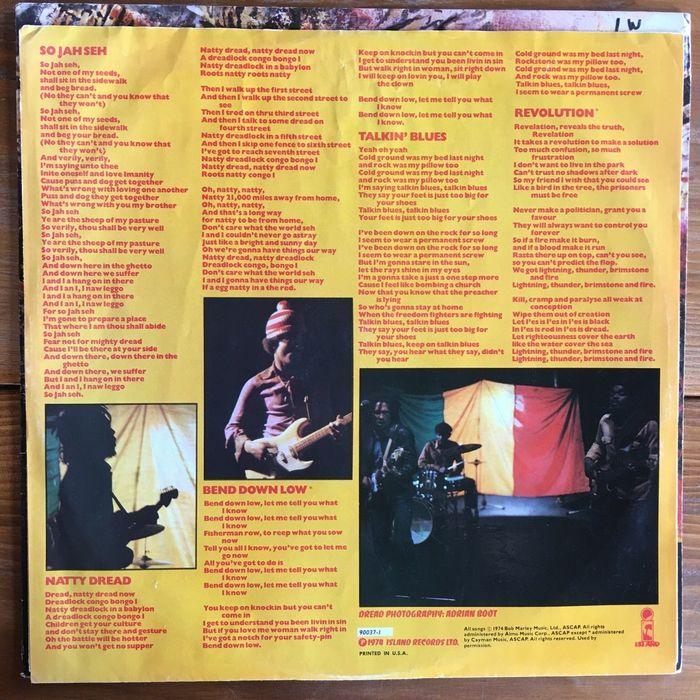 Bob Marley & The Wailers – Natty Dread album art 4
