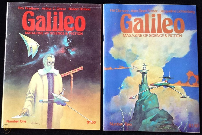 #1 (Sep. 1976) with the eponymous Galileo Galilei and #2 (Dec. 1976), both with cover art by Tom Barber.
