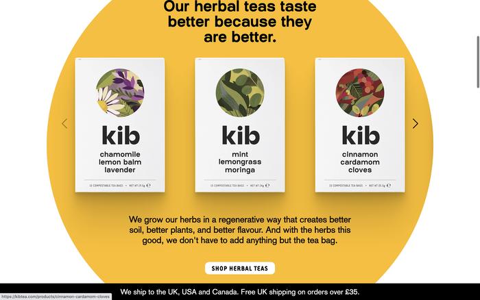 Kibtea website 2