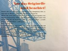 """""""Nur das Originelle wird beachtet!"""", Frobenius AG"""