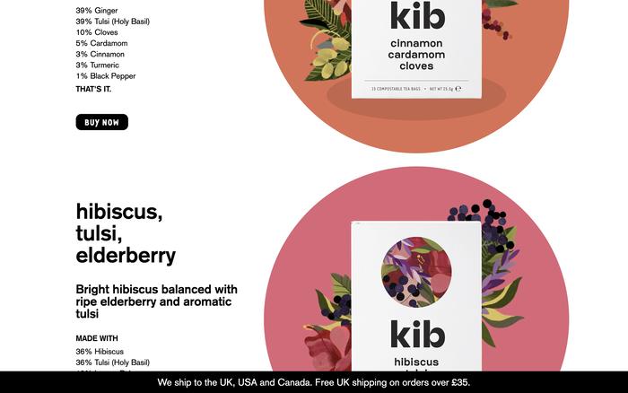 Kibtea website 3