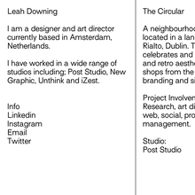Leah Downing portfolio website