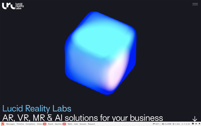 Lucid Reality Labs website 1