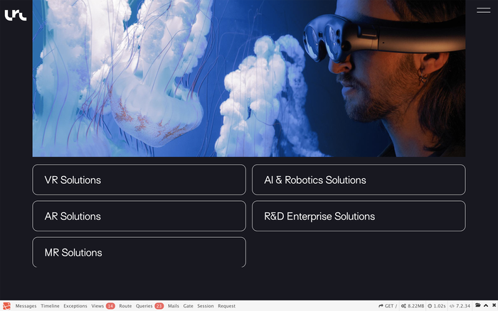 Lucid Reality Labs website 2