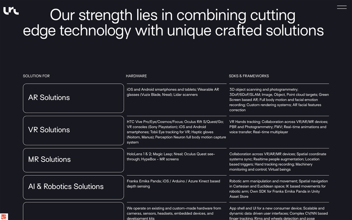 Lucid Reality Labs website 6