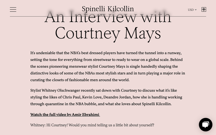Spinelli Kilcollin website 3