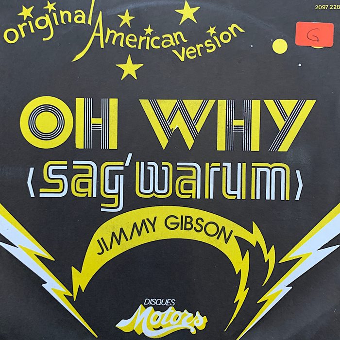 """Jimmy Gibson – """"Oh Why (Sag' warum)"""" single cover"""