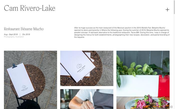 Cam Rivero-Lake portfolio website 3