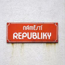 <span>Náměstí Republiky sign, <span>Pardubice</span></span>
