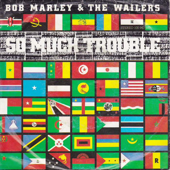"""The single sleeve for """"So Much Trouble In The World""""  (1979) is a direct adaptation of Garrick's album cover. [More info on Discogs]"""