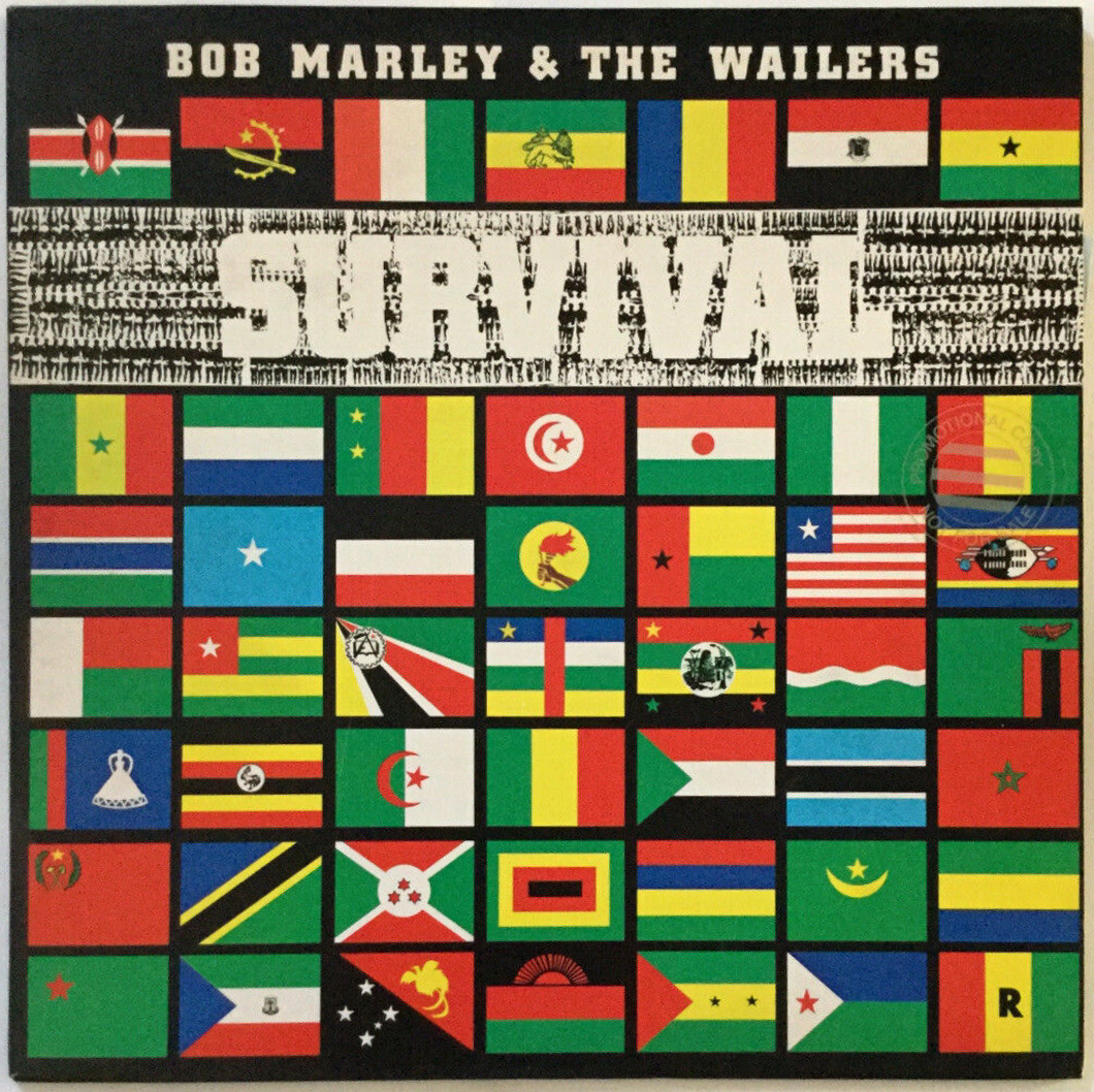 Bob Marley & the Wailers – Survival album art - Fonts In Use