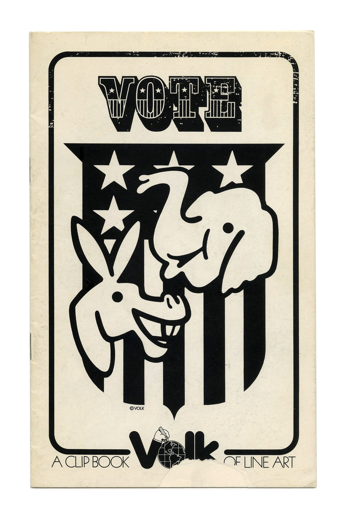 """""""Vote"""" (No. 280) ft. . The new Volk logo here is framed by tightly spaced caps from  Light."""
