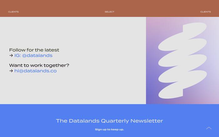 Datalands Studio website 3
