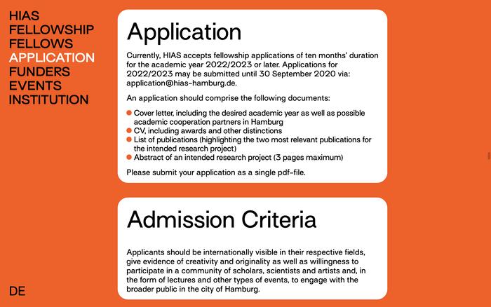 Hamburg Institute for Advanced Study (HIAS) website 6