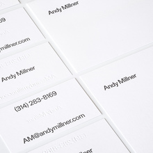 Andy Millner stationery and website