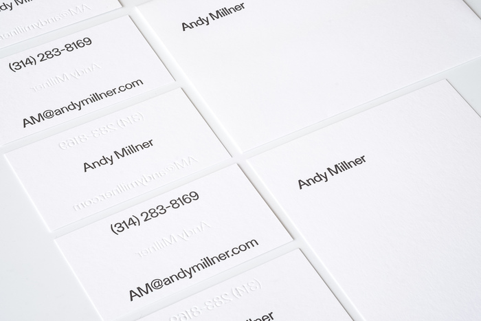 Andy Millner stationery and website 1