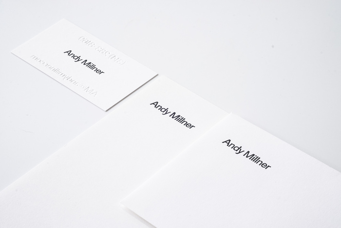 Andy Millner stationery and website 3