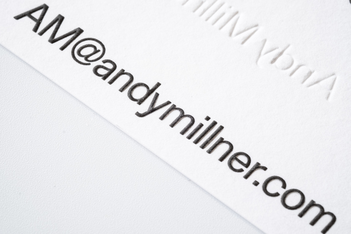 Andy Millner stationery and website 4