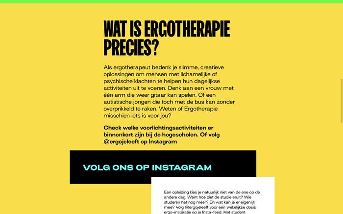 """Ergo je leeft"" campaign website 3"