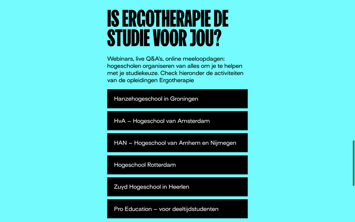 """Ergo je leeft"" campaign website 4"