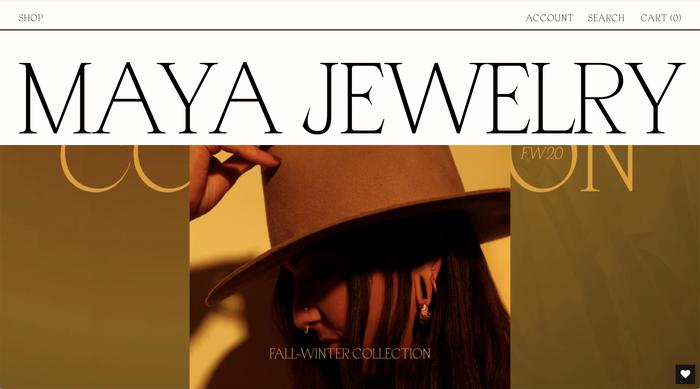 Maya Jewelry website 1