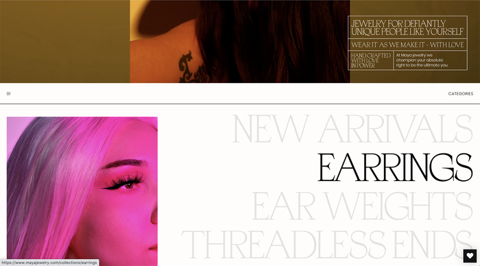 Maya Jewelry website 2