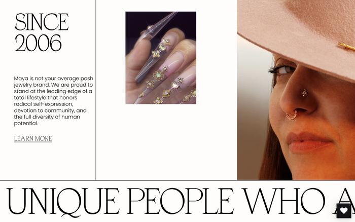 Maya Jewelry website 5