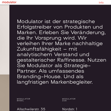 Modulator website