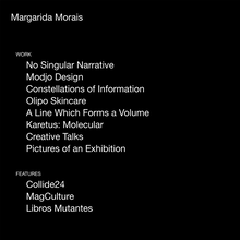 Margarida Morais portfolio website