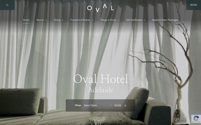 Oval Hotel website 1