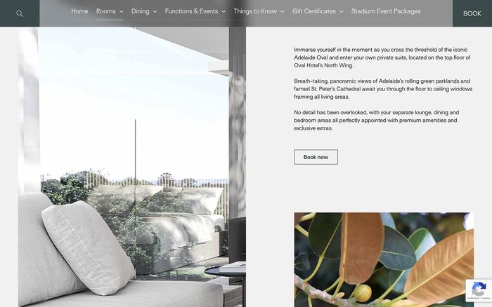 Oval Hotel website 4