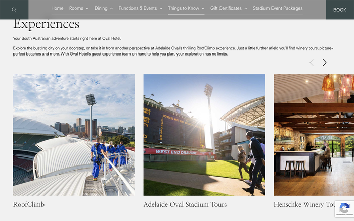 Oval Hotel website 5