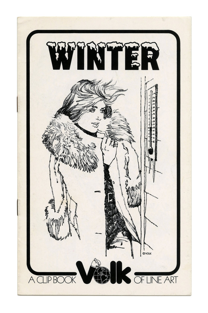 """""""Winter"""" (No. 287) ft. , a snow-capped variant of 's series of bold grotesque caps for Photo-Lettering."""