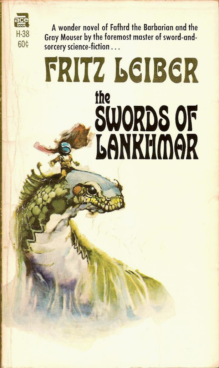The Swords of Lankhmar (#5), Ace H-38, 1968.  is used for the blurb.