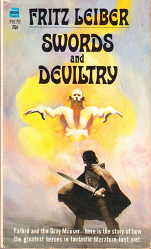 <cite>Fafhrd &amp; The Gray Mouser</cite> book series by Fritz Leiber (Ace)
