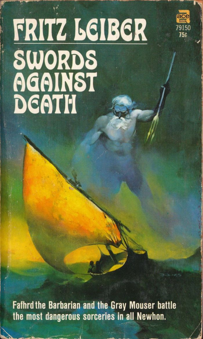Swords Against Death (#2), Ace 79150, 1970. The small text on vols 2–4 is set in . This cut originated at Haas as .