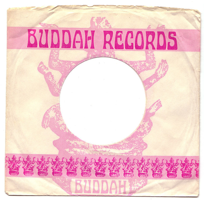 The generic sleeve designs by Buddah Records came in a range of colors.
