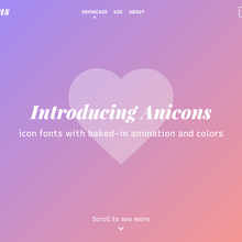 Anicons – Animated Color Icon Font website