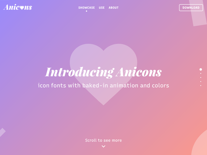 Anicons – Animated Color Icon Font website 1