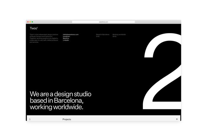 Twoo® portfolio website 2