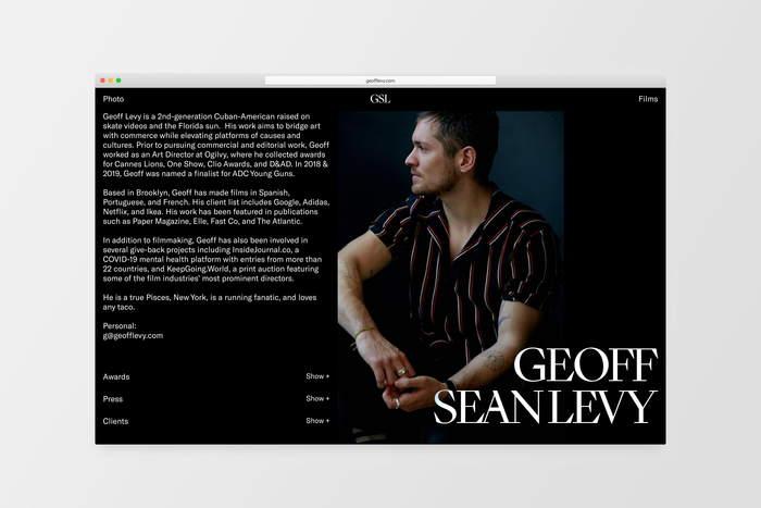 Geoff Sean Levy portfolio website 5
