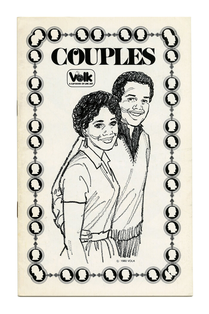 """Couples"" (No. 752) ft. tightly spaced caps from , here just with a single swash O and no overlaps. Primary Illustration by Tom Sawyer."