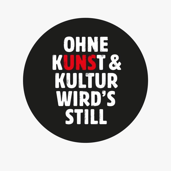 """""""Ohne Kunst & Kultur wird's still"""" viral campaign 1"""