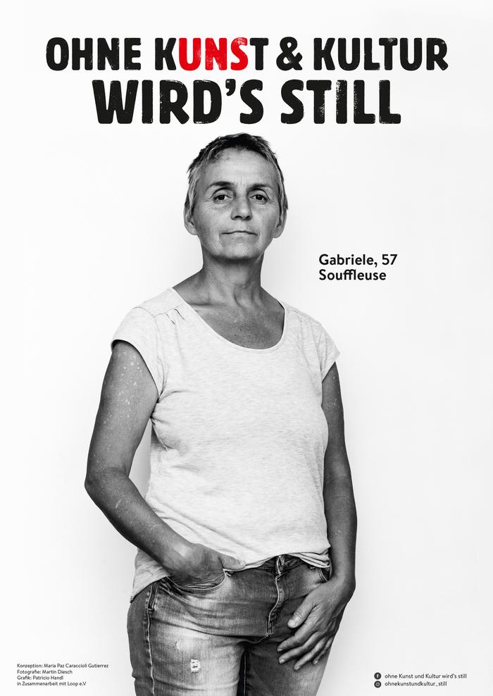 """""""Ohne Kunst & Kultur wird's still"""" viral campaign 4"""