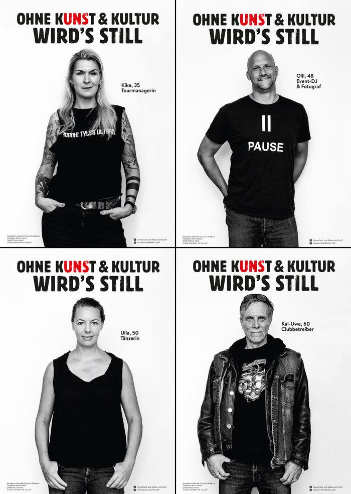 """""""Ohne Kunst & Kultur wird's still"""" viral campaign 6"""