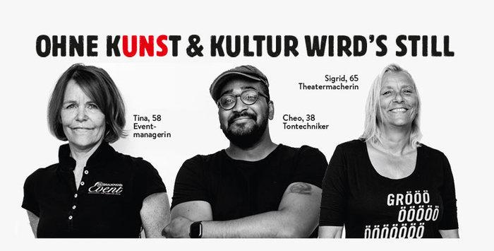 """""""Ohne Kunst & Kultur wird's still"""" viral campaign 2"""